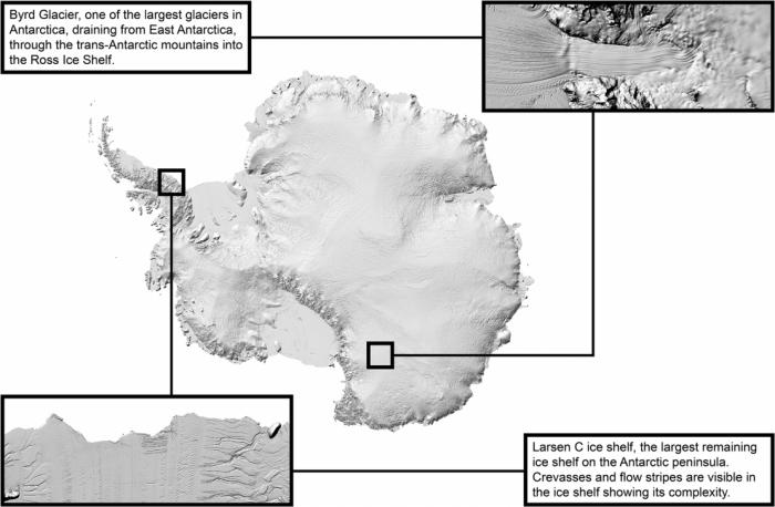 科学家用海量卫星数据创建最详细南极洲地图