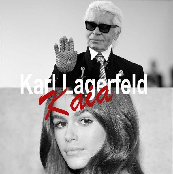 老佛爷卡尔·拉格斐与00后超模推出联名成衣,17岁的凯亚·葛伯真了不起