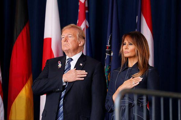 特朗普赴宾州出席9.11恐袭17周年纪念活动