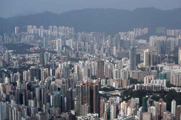 """被称为""""石屎森林""""的香港高楼大厦"""