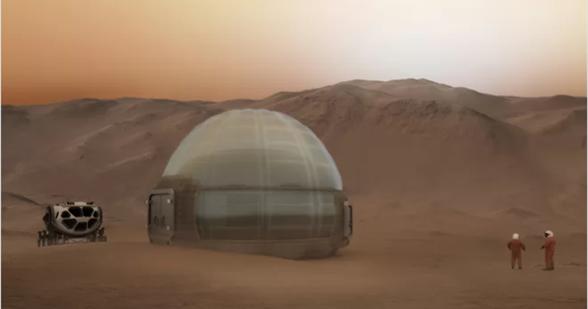 揭秘火星冰屋:登上火星的人类可能将住在这里