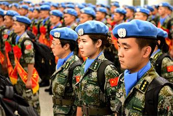 中国第九批赴南苏丹维和部队出征