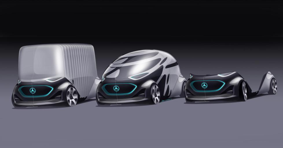 奔驰全电动无人驾驶概念车:更换车身实现多功能