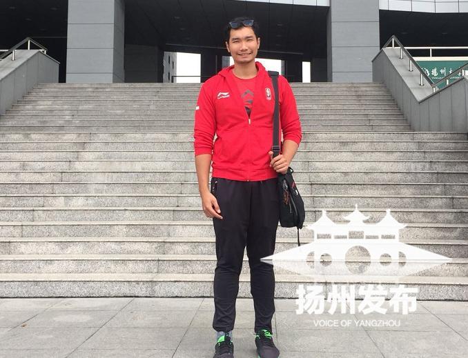 """扬州迎来一位""""老外""""留学生,刚参加完雅加达亚运会"""