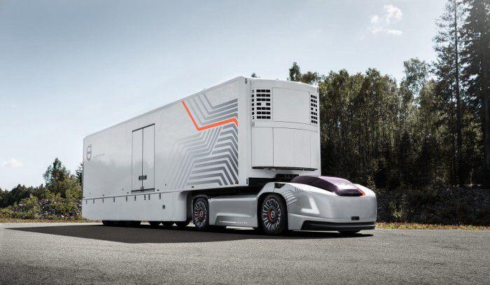 沃尔沃自动驾驶概念车Vera:无驾驶室的运货工具