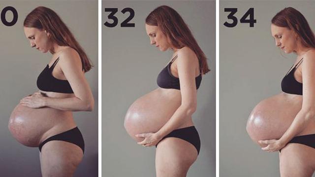 怀三胞胎肚子会大成啥样?丹麦36岁母亲孕肚惊人!