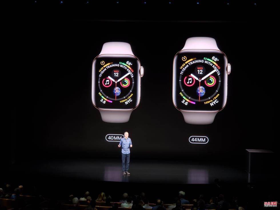 Apple Watch Series 4发布:性能翻倍 超窄边框