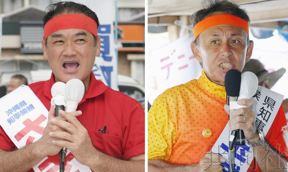 日本冲绳县知事选举将围绕普天间机场搬迁问题展开对决