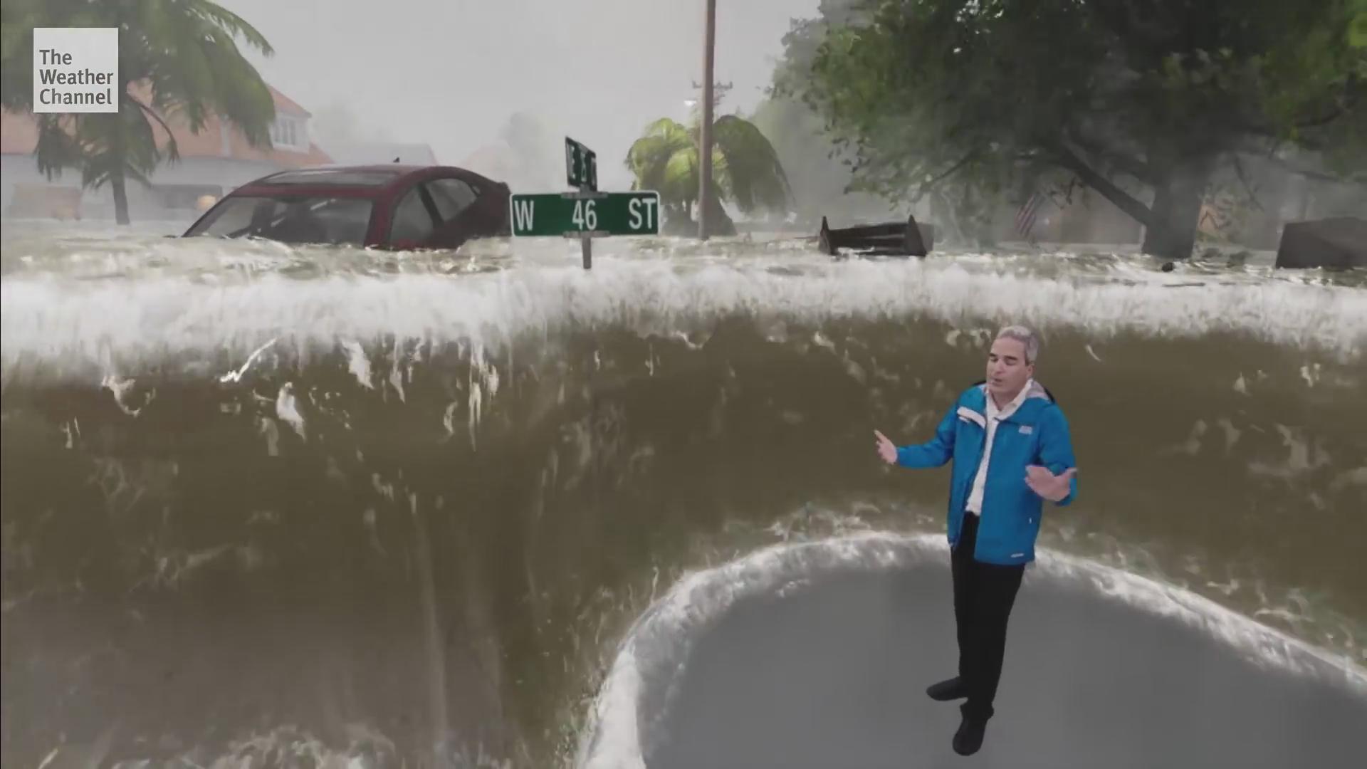 """飓风""""弗洛伦斯""""登陆美国 MR技术展示破坏性威力"""