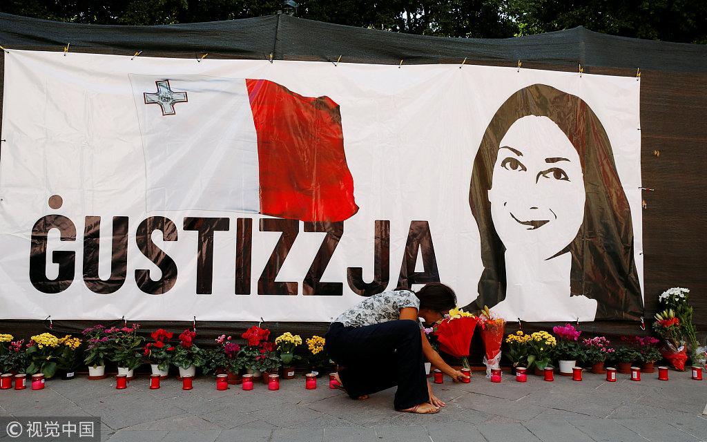 马耳他反腐女记者遭暗杀 民众呼吁当局惩罚元凶