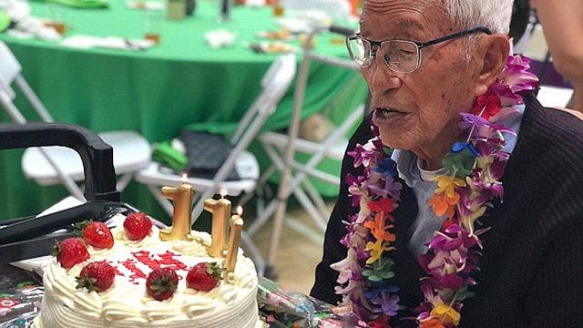 美国111岁老人每天坚持锻炼 营养膳食和积极心态是秘诀