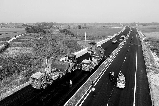 国道347铜陵段建设冲刺