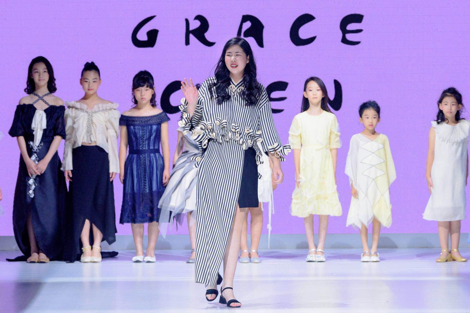 """""""甜美心旋"""" Maxine Wang & Grace Chen 2018少女高定系列 13岁少女高定设计师亮相"""