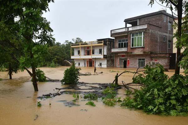 广东阳春遭遇洪水 洪水量超历史记录