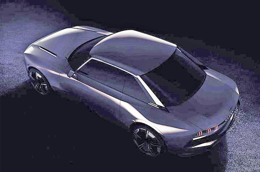 标致发布复古概念轿跑预告图 将亮相巴黎车展