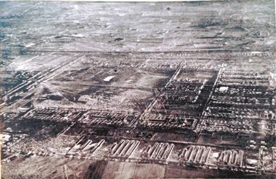 """87年前沈阳""""九·一八事变""""后的北大营航拍图"""
