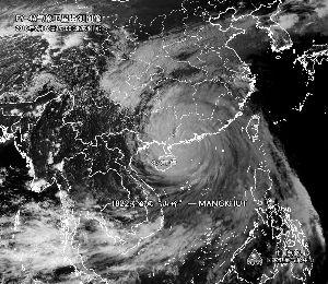 """""""山竹""""登陆最大风力14级 中国气象局辟谣"""