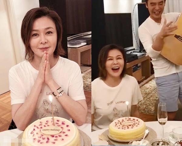 大美人关之琳迎56岁生日 好友钟镇涛自弹自唱为其祝贺