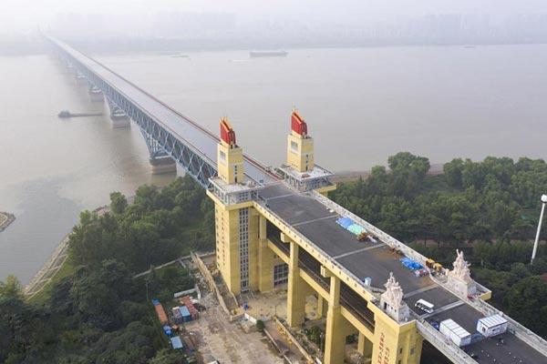 南京长江大桥初露新颜