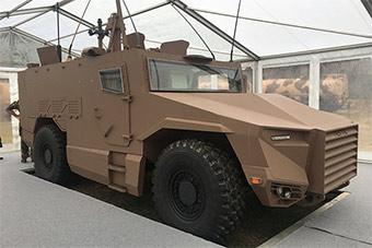 法全新研发装甲车将装备法军队 造型很别致