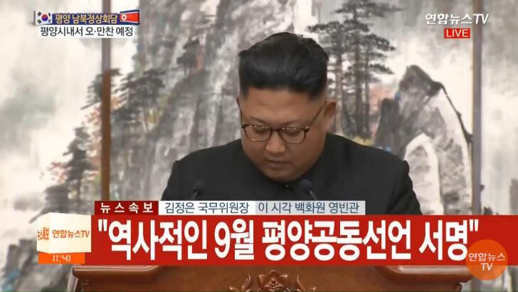 金正恩:朝韩共同签署历史性《9月平壤共同宣言》