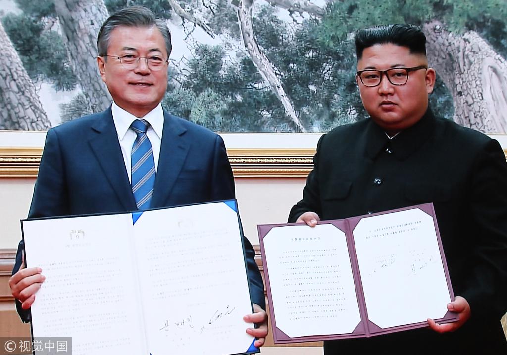 如意娱乐韩朝签署《9月平壤共同宣言》,