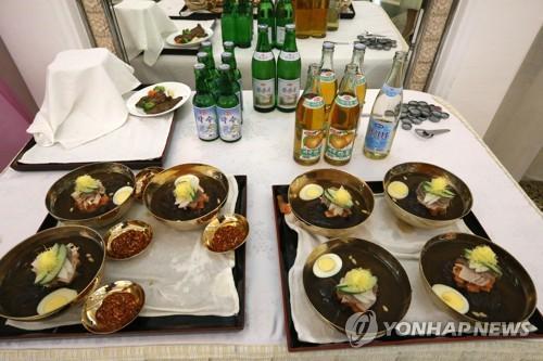 韩媒:文在寅同金正恩在平壤玉流馆共进午餐