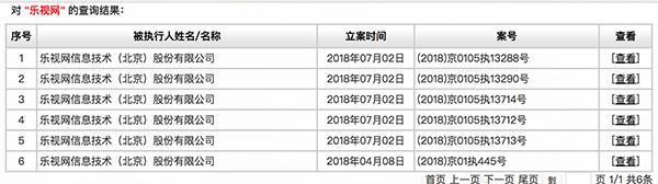 乐视被列入失信被执行人名单:未按期支付推广费