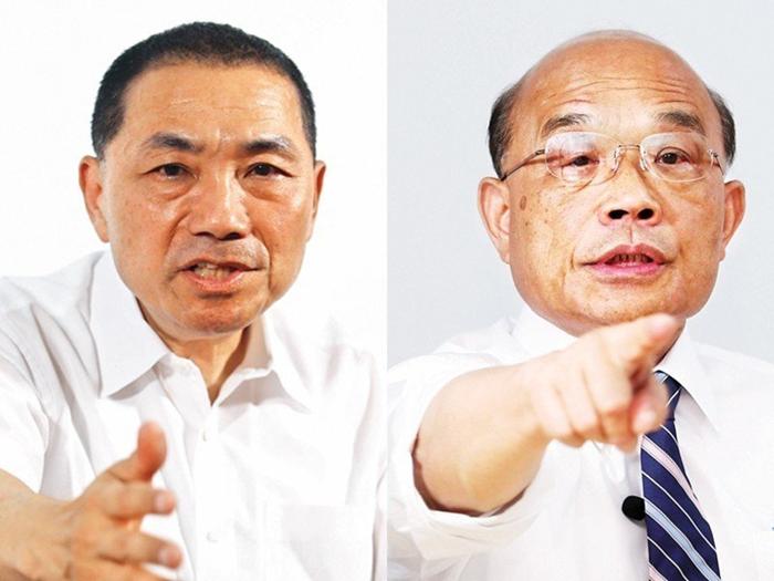 台媒民调:侯友宜苏贞昌差距拉大 近半选民支持候胜选