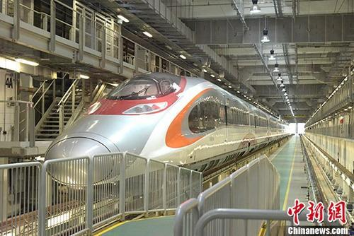 高铁香港段即将通车 动感号列车配备齐全蓄势待发