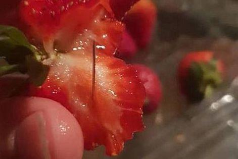 """澳""""草莓藏针""""事件系恶作剧 一名涉案男孩被捕"""