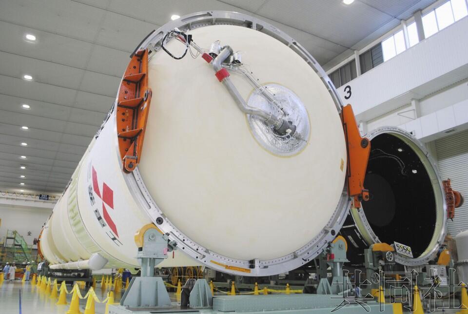 日本三菱重工展示H2A火箭 将用于月底发射息吹2号