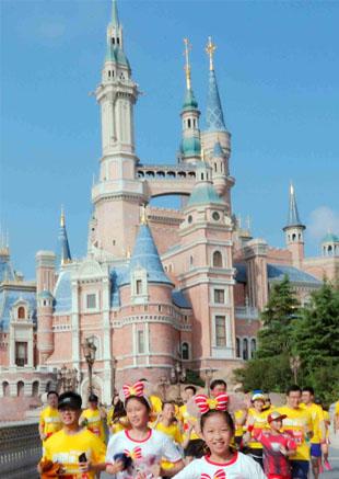 上海迪士尼乐园度假区跑步