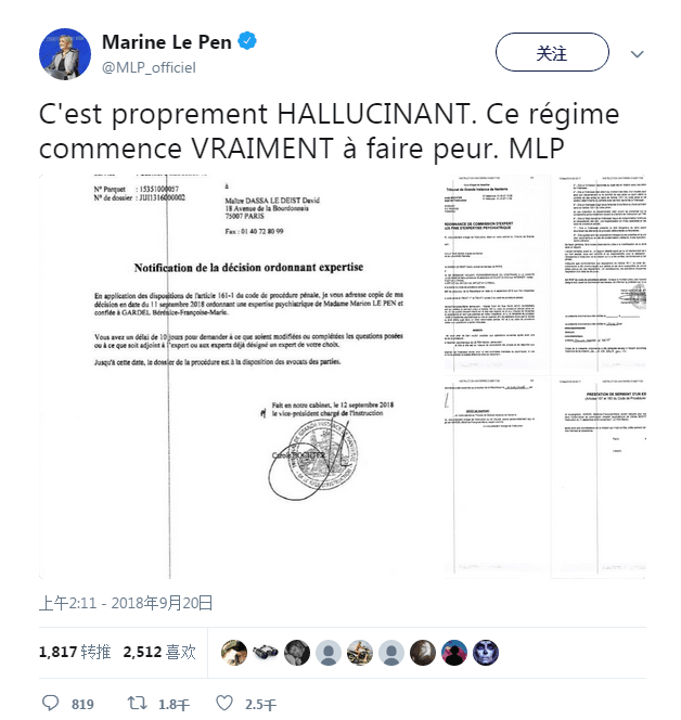 法极右党魁分享IS暴行照片 法院令其接受精神检查