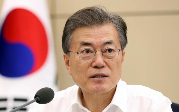 """韩国民调:受""""金文会""""积极影响 文在寅施政支持率再破60%"""