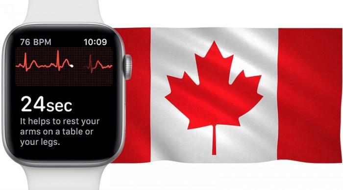 加拿大将批准Apple Watch S4心电图功能