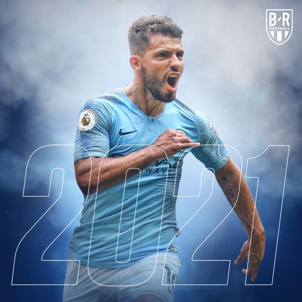 曼城官方宣布续约阿圭罗 合同签至2021年周薪22万镑