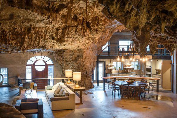 美国奢华酒店改自天然岩洞 标价200万英镑出售