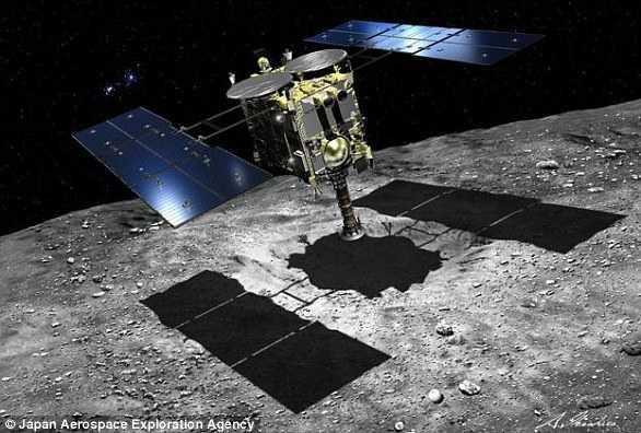 两个机器人登陆小行星龙宫 为隼鸟2号采样探路