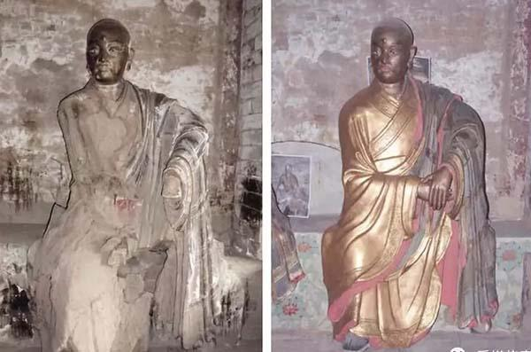 """青莲寺塑像引争议,文物修复该循""""新""""还是守""""旧"""""""