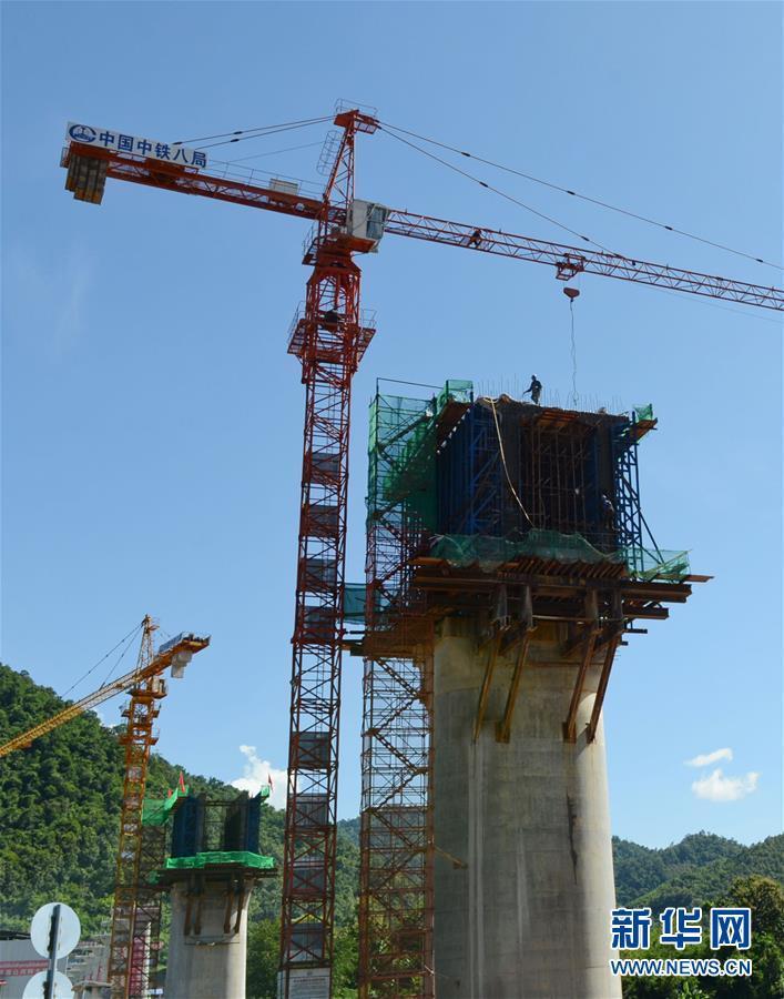中老铁路跨湄公河大桥建设取得新进展