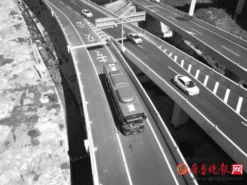 走高架穿隧道济南BRT9跑上立交桥 二环南到二环东仅需半小时