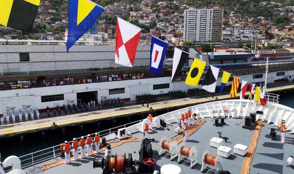 中国海军舰艇首访委内瑞拉 委军中国造战机护航