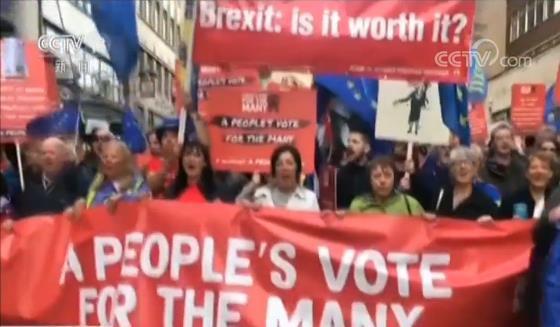 英数千民众在利物浦举行反脱欧游行 呼吁新一轮公投