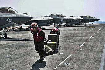 美军多架F-35B战斗机抵达吉布提