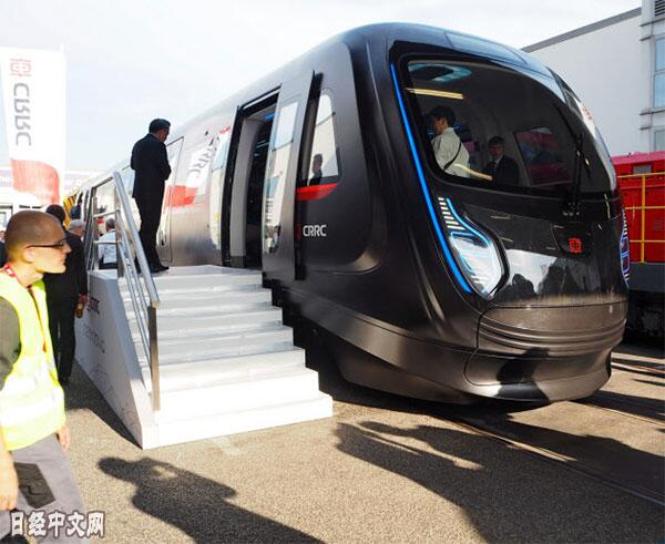 中国中车集团打造的碳纤维地铁车辆亮相柏林