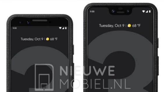 Pixel 3和Pixel 3 XL的高清渲染图