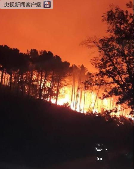 意大利中部山火蔓延 逾百人被疏散(图)