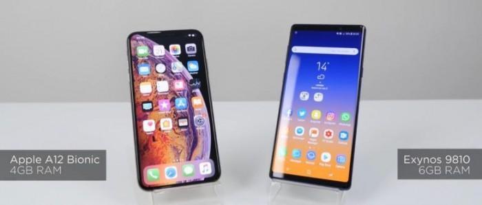 """性能测试:iPhone XS Max""""吊打""""三星Note 9"""