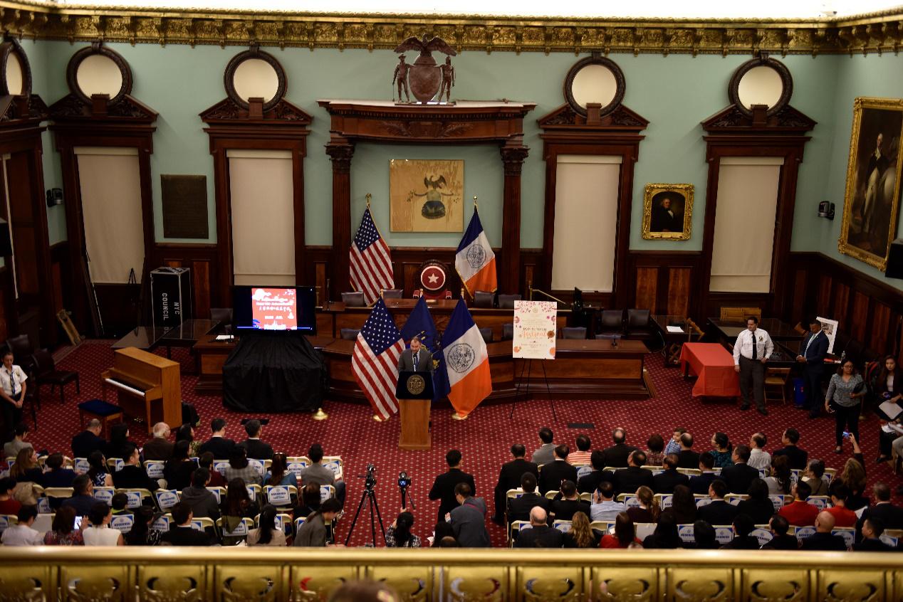 """""""月圆纽约""""北京澳门永利推介活动在纽约市政厅举办"""